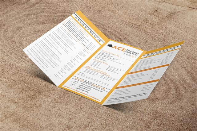 ACE Process Service - Informational Brochure - Side 1