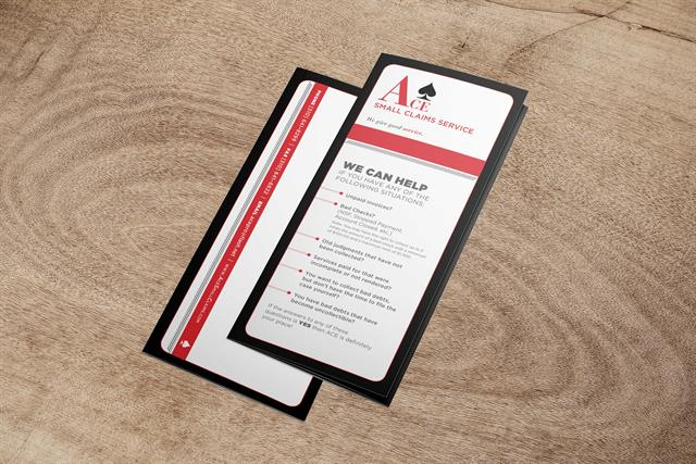 ACE Small Claims Service - Informational Brochure - Front