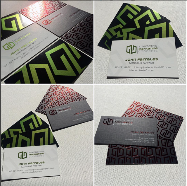 Custom Logo Design & Business Card Design for Interactive Marketing Company