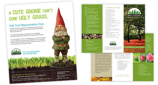 Custom Flyer & Tri-Fold Creation for DKC Landscaping