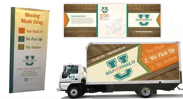 Custom Logo, Truck, Banner & Brochure Design, for Help-U-Store It