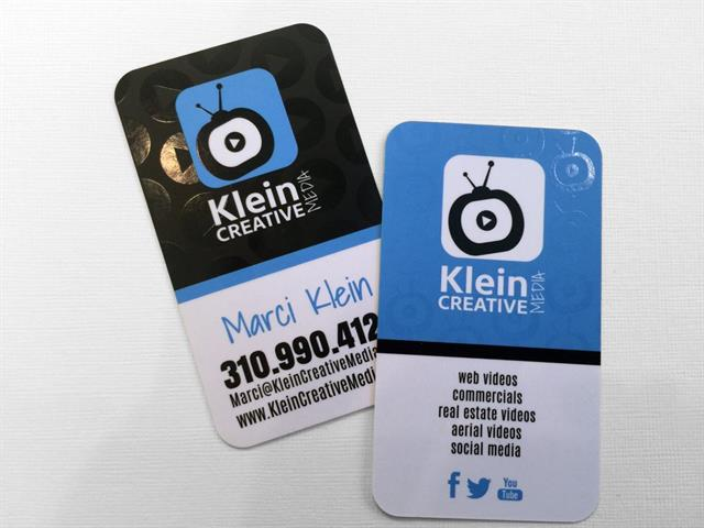 Logo Refresh & Custom Business Card Creation for Klein Creative Media
