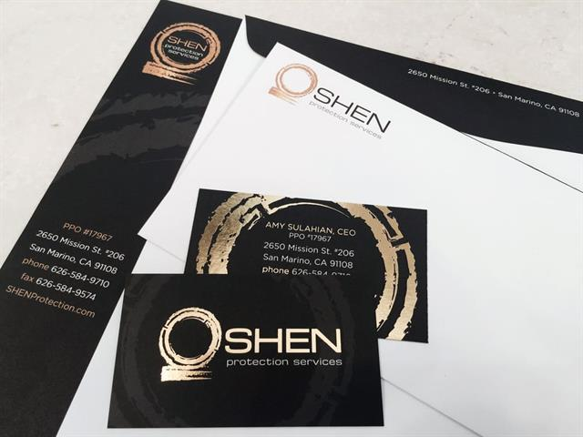 Custom Logo, Business Card, Letterhead & Envelope Design for Shen Securities