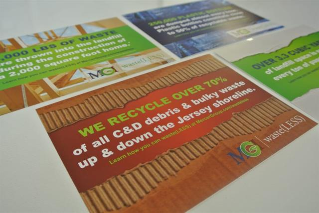 Direct Mail Postcard Creation for MGI; a recycling company