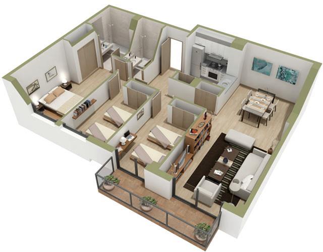 Drafting, specifying, rendering floor plans