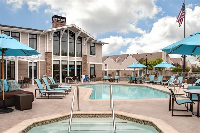 Guest recreation area with heated pool, Whirl Pool, built in BBQ and Fire Pit and Sport Court.