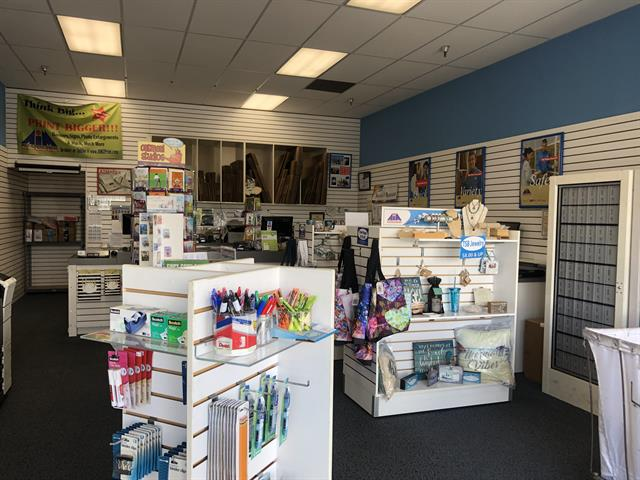 Inside store - office supplies and gift items