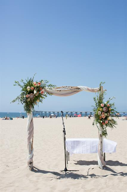 Hermosa Beach Intimate Wedding Ceremony
