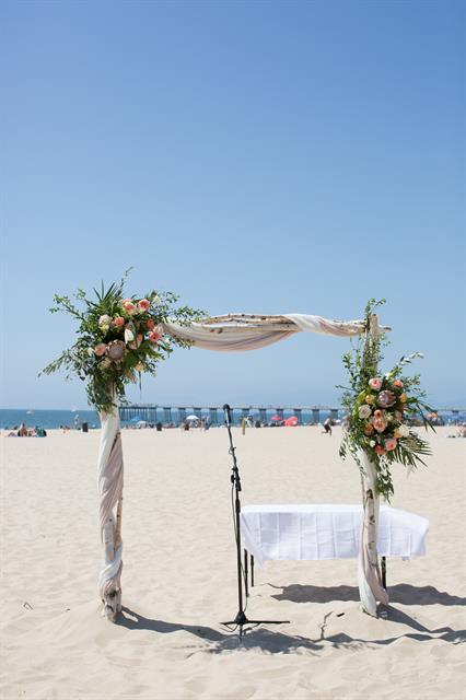 Hermosa Beach Intimate Wedding Ceremony