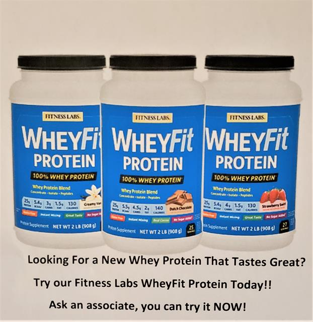 Come Try WheyFit Protein Today