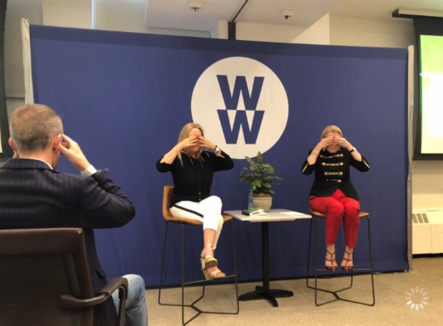 WW (formerly Weight Watchers) HQ with CEO Mindy Grossman Live Streaming Breathe to Succeed Experience to all WW Offices