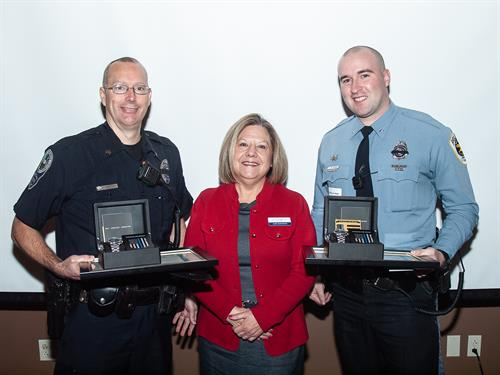 "One of the ways we thank our first responders is to recognize our Salem & Roanoke ""Officers of the Year"" during the Salem-Roanoke County Chamber of Commerce's breakfast this past January."