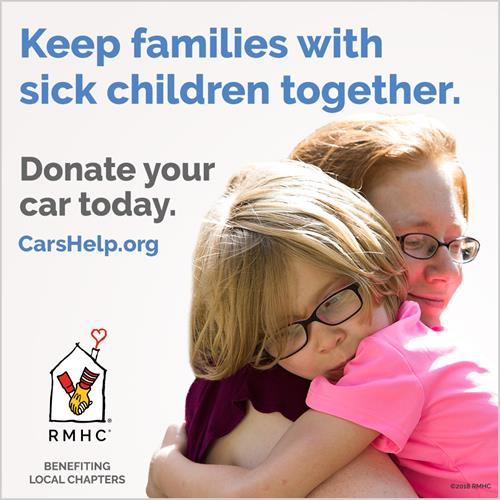 Donate your car today to the Ronald McDonald House