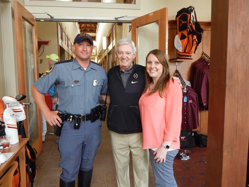 Hanging out with Coach Beamer and one of our great families.