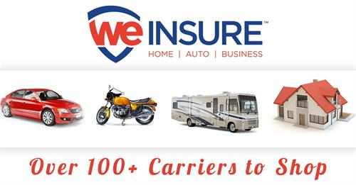 We Insure can cover ALL your insurance needs with best coverage and lowest premiums!