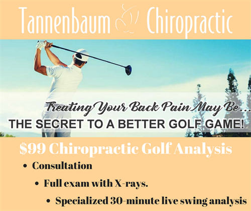 $99 Chiropractic Golf Analysis with 30 Minute Live Swing Analysis.Serving Santa Monica,Brentwood & Beverly Hills golf community.310-271-9968
