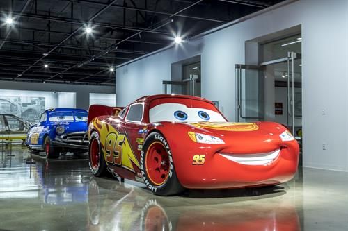 Lightning McQueen and Doc Hudson at the Discovery Center
