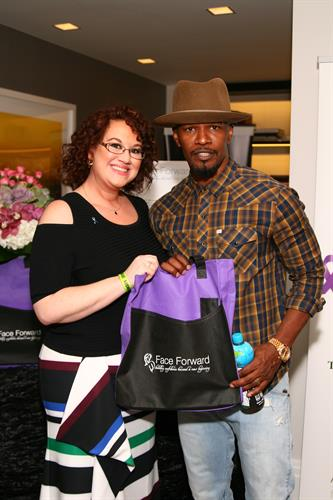 Jamie Foxx and Face Forward Executive Director Mandi Edwards