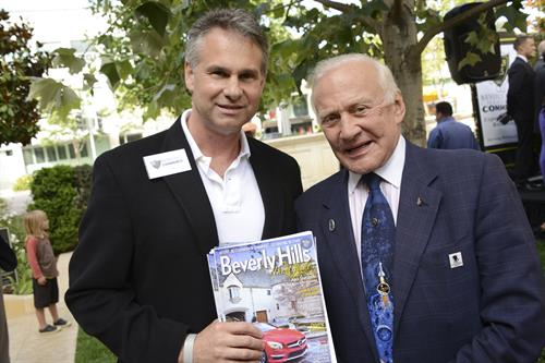 Meeting Buzz Aldrin at installation event