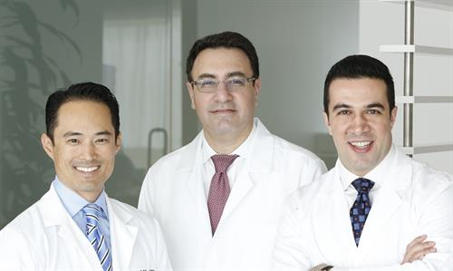 Left to right Dr. Nishi, Dr. Khalili, Dr. Basseri