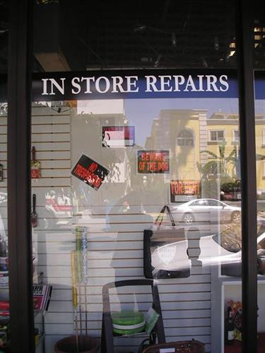 we do in store repairs of all kinds of things- call and ask~!