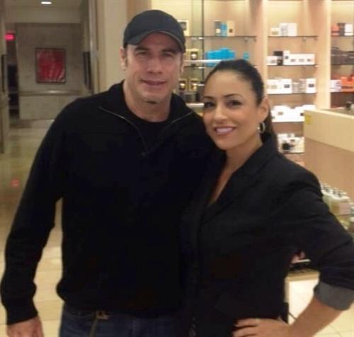 Cindy Pimber V.P. of Sales and Marketing with John Travolta