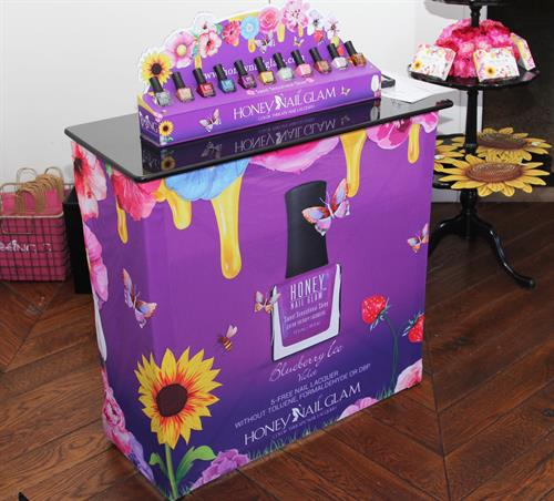 Our color therapy honey nail glam mini nail bar pop-up