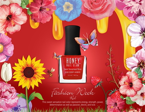 Our signature fashion week red luxury nail lacquer