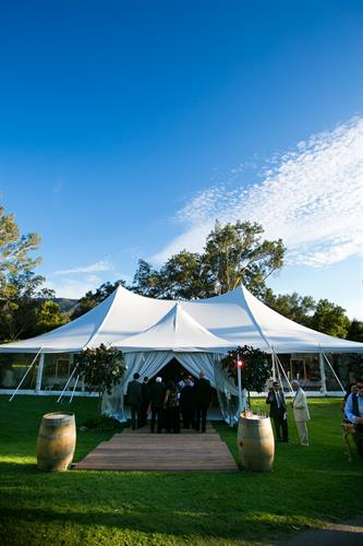 Reception tent for wedding -Ojai Valley inn