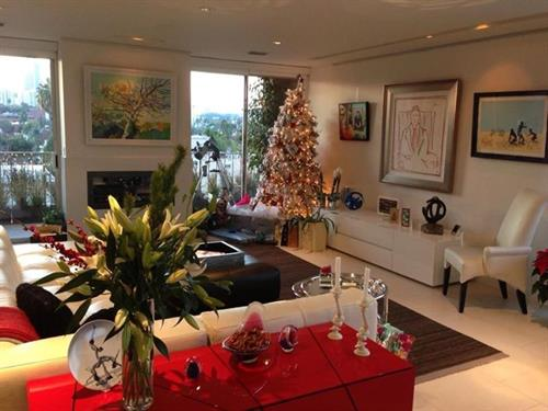 Residentail interiors - with holiday accents- Beverly Hills