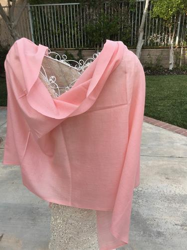 Wedding?  Bride?  Bridesmaids?  All will look lovely in this blush pink wool-silk concoction!