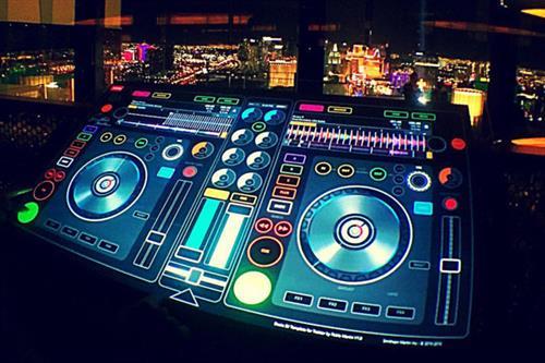 Unique DJ Booth display