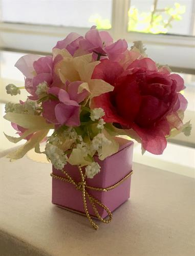 We can customize our handmade floral fantasy boxes for your special event.
