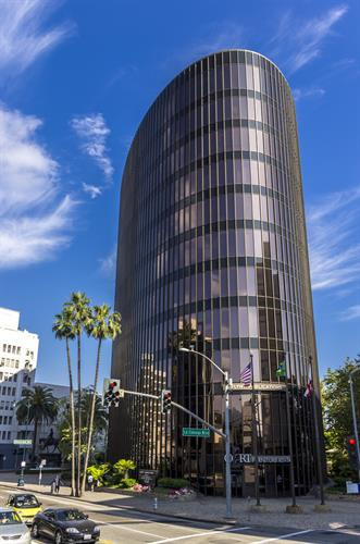 Located in the Flynt Building at La Cienega and Wilshire Blvd.