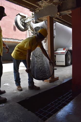 Concrete Pour for the grade beam
