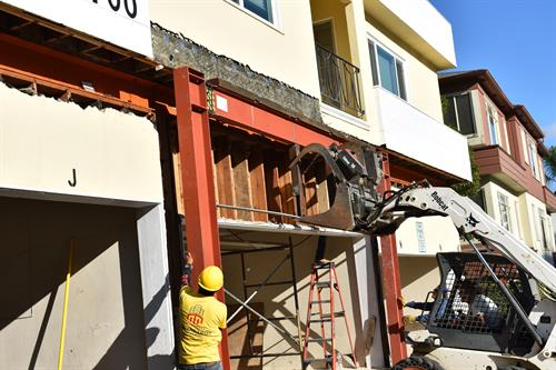 Installing a Moment Frame in Westwood