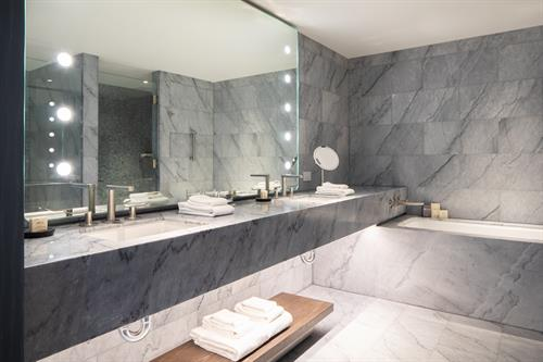 Marble Bathrooms in all rooms and suites