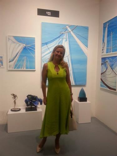 Art expo for Slavica's paintings in Miami