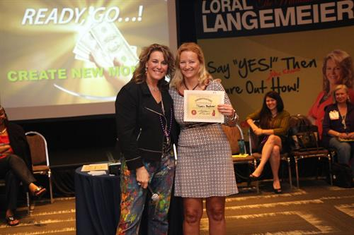 With Loral Langemeier in Orlando