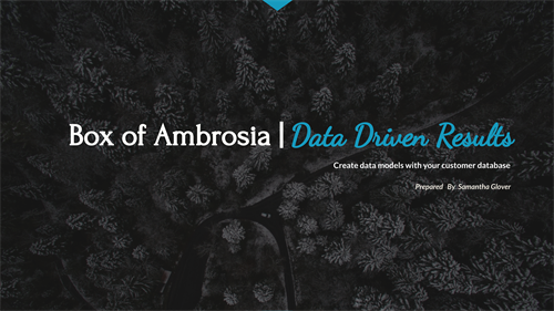 Box of Ambrosia | Data Driven Results