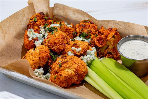 This buffalo cauliflower with satisfy your cravings!