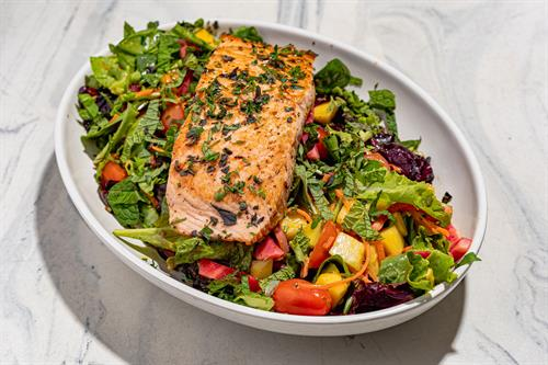 Add protein, including salmon, to any salad.