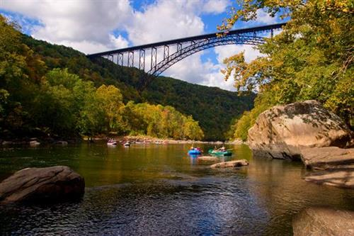 Rafting under the New River Gorge Bridge