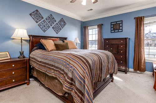 Bedroom at Horn Lake home
