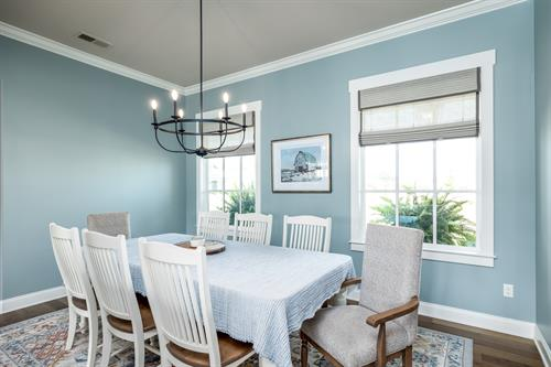 dining room at Piperton home
