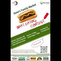 Gene's Family Market Brat Eating Contest 2021