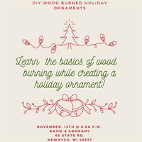 Wood Burned Ornament Workshop