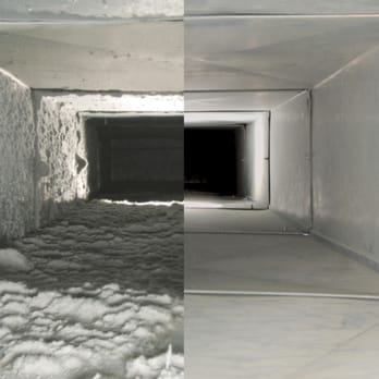 Before and after Furnace & Duct cleaning