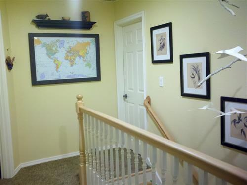Staircase to suites