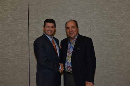 CEO, Rodney Meeks with MLB Hall of Famer Johnny Bench